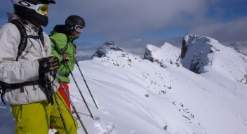 Skiing in the Canadian Rockies